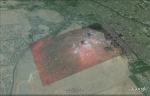 The Orion Correlation Theory via Google Earth